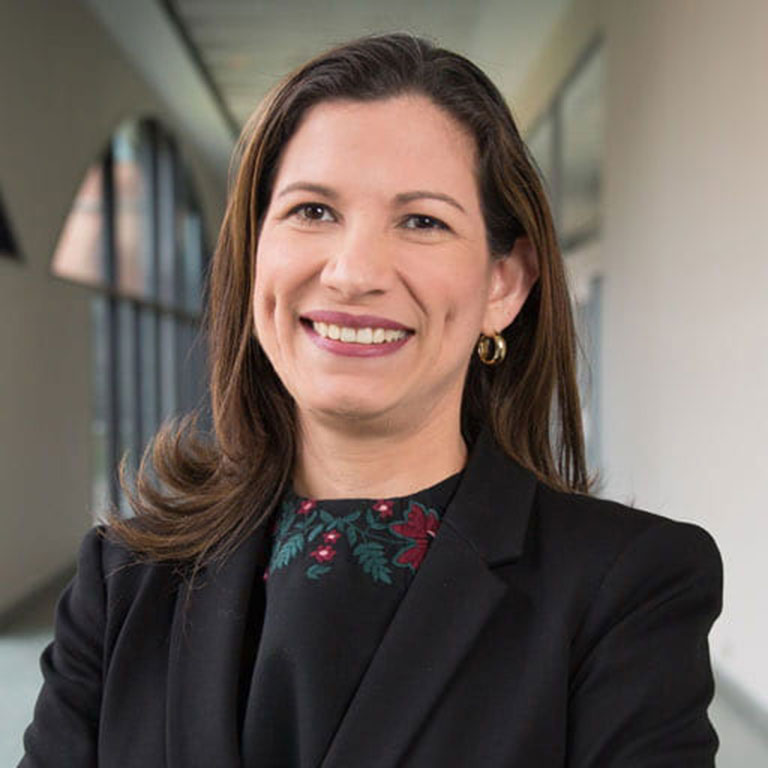 Chief medical officer for Eskenazi Health Center and vice president of Eskenazi Medical Group, Saura Fortin Erazo, MD, MBA'18
