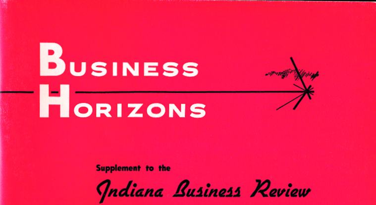 Business Horizons academic journal begins publication.
