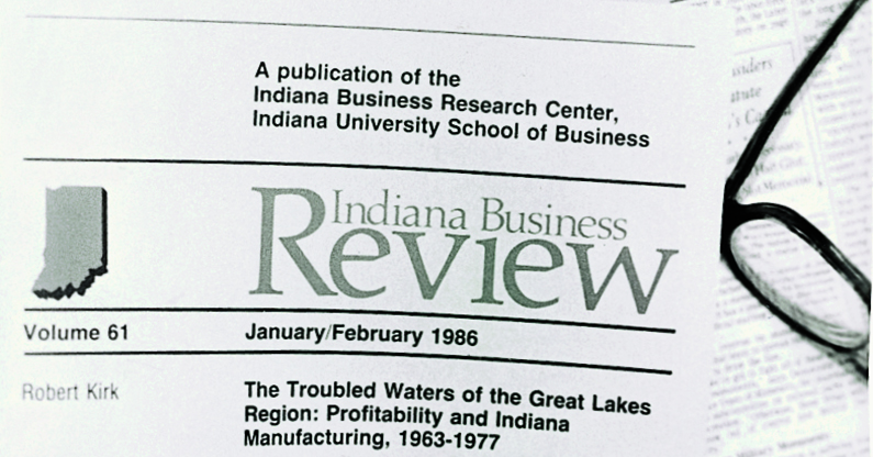 Indiana Business Review, published by the School of Business's Indiana Business Research Center, debuts.